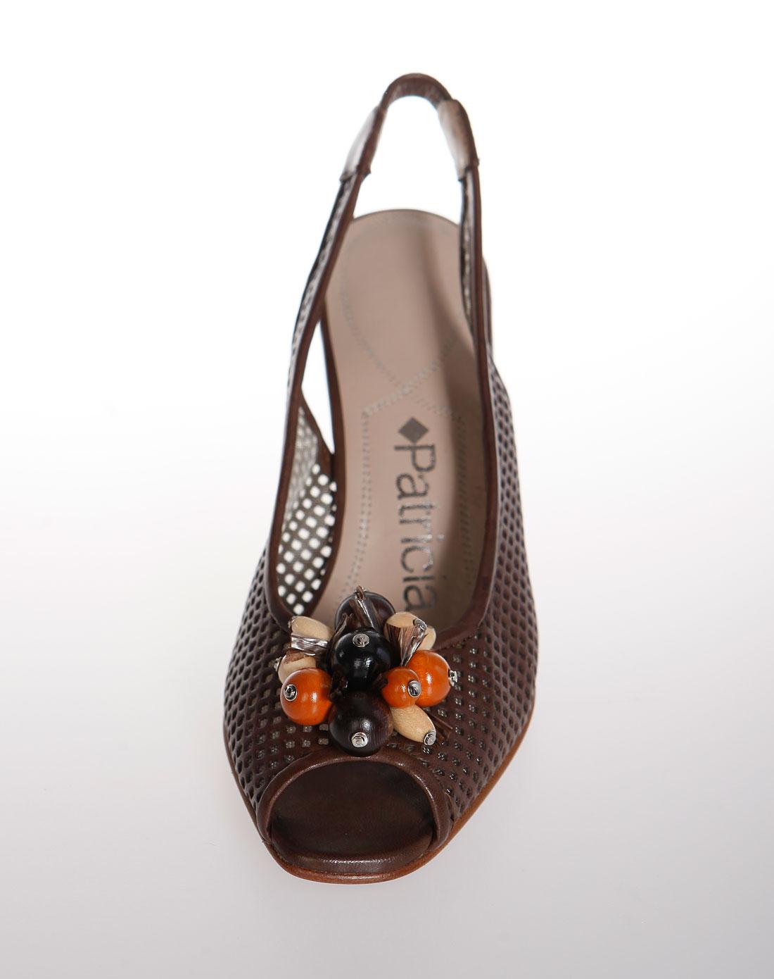 帕翠亚patricia女款雅致优雅个性鞋跟鱼嘴镂空凉鞋色