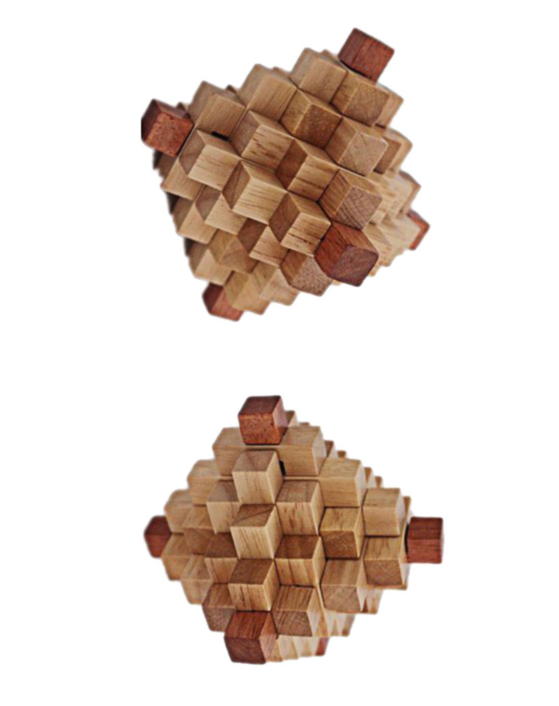 丹妮奇特特三国孔明锁系列—菠萝锁(进口橡胶木)