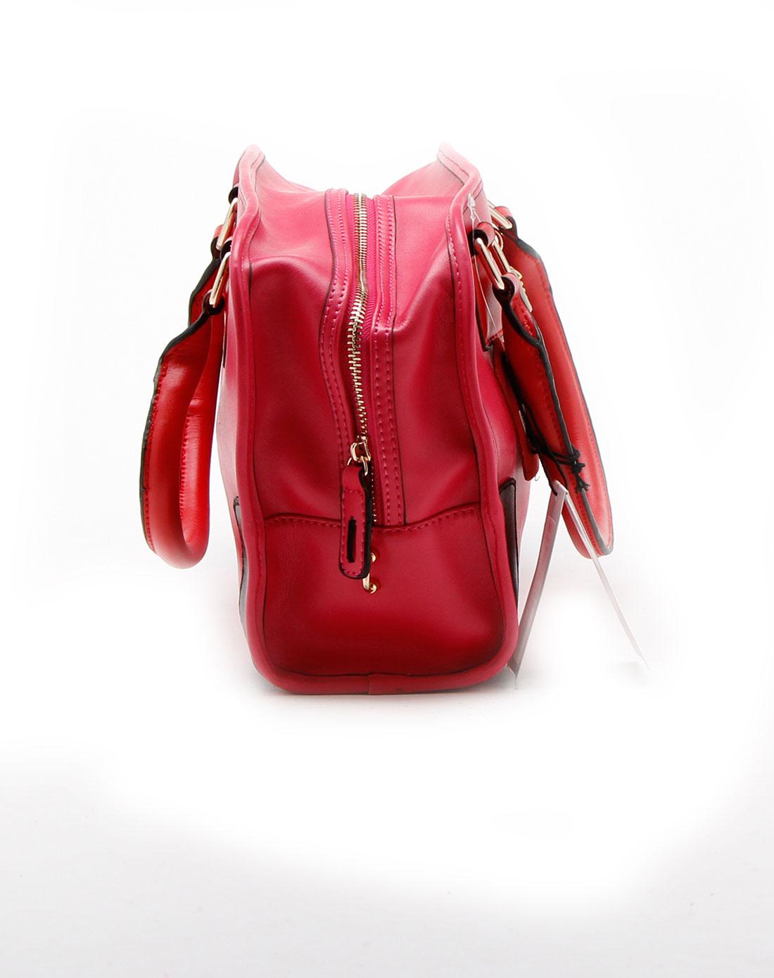spade时尚玫红色手提包q7331