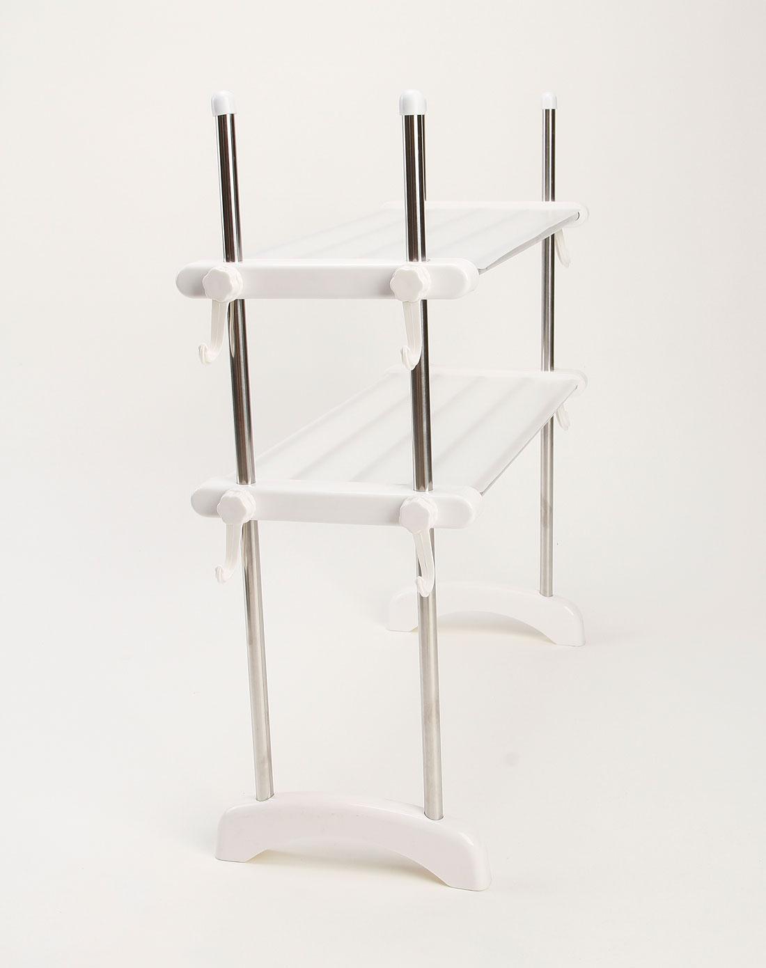 白色欧式不锈钢微波炉置物架