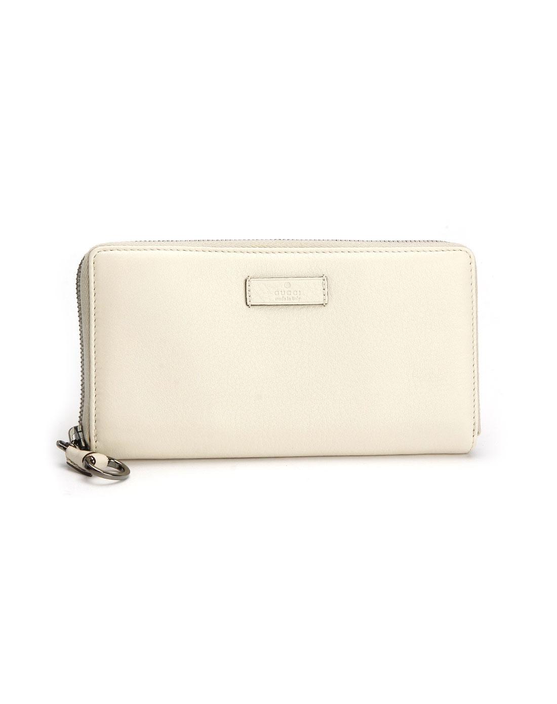奢华包包gucci 女款白色时尚拉链钱包