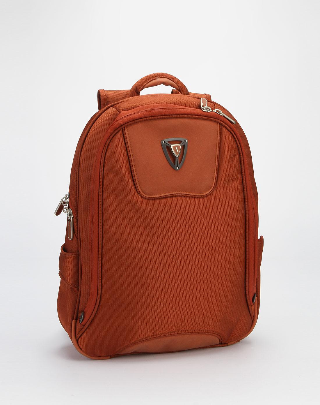 森泰斯sumdex中性橙色时尚休闲双肩电脑包pjn-504lo