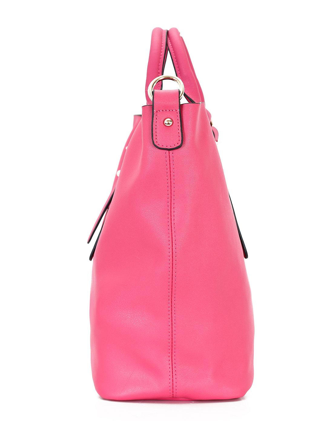 doris女款梅红色时尚手提包中包wb4008s
