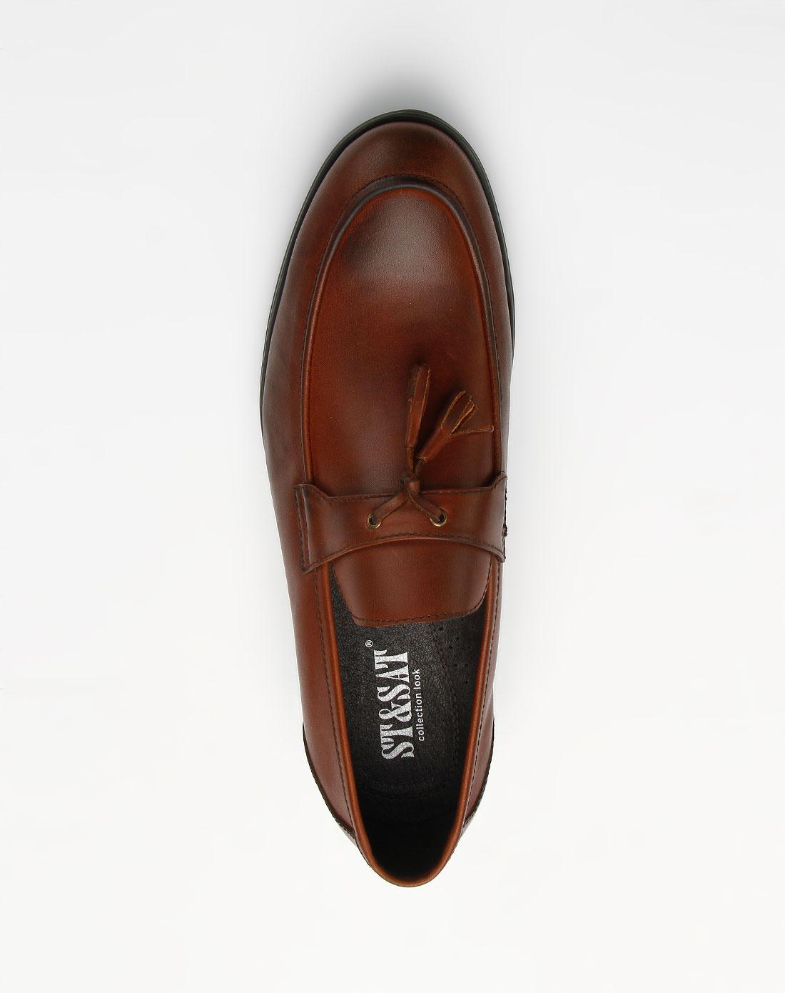 小流苏休闲皮鞋