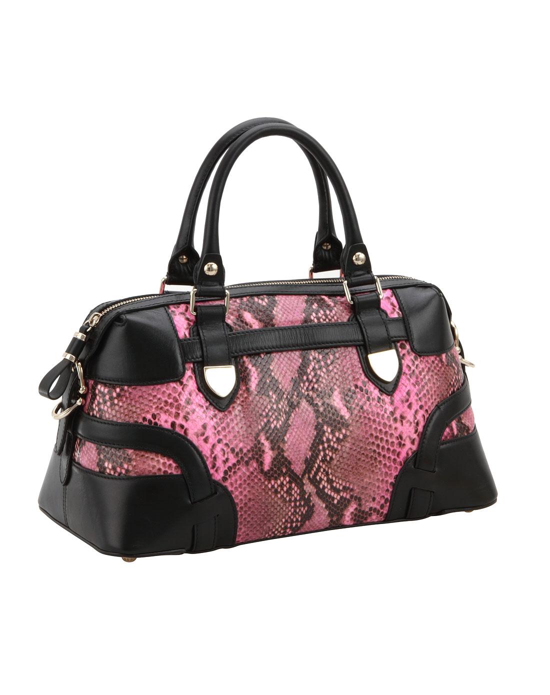 女款粉红色背提包