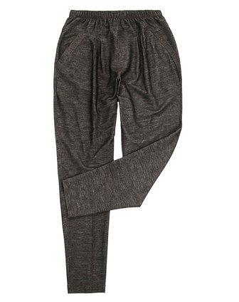女款麻灰色哈伦长裤