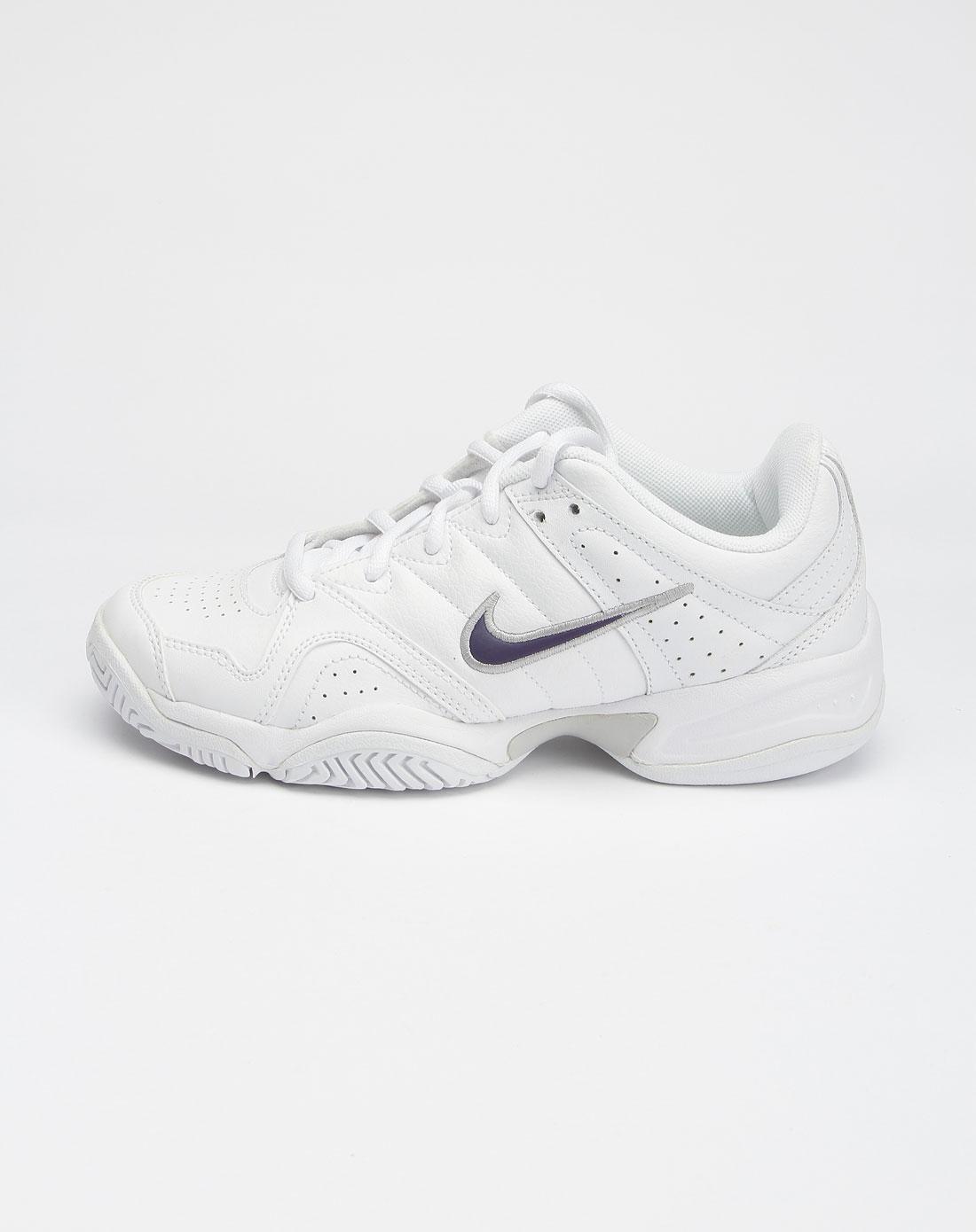 耐克nike女款白色city系列绑带时尚网球鞋386351-116