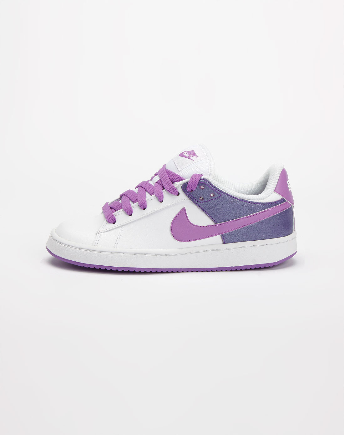 紫/白色拼接绑带运动鞋