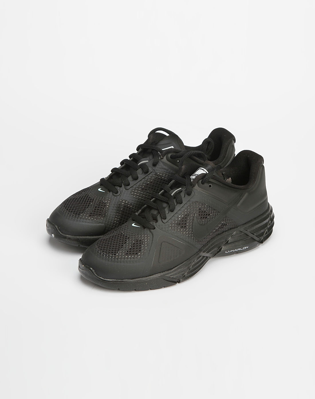 耐克nike男女款黑色网面绑带运动鞋429787-003