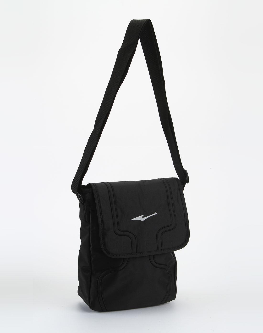 鸿星尔克erke女款黑色休闲时尚斜挎包bk91167-1