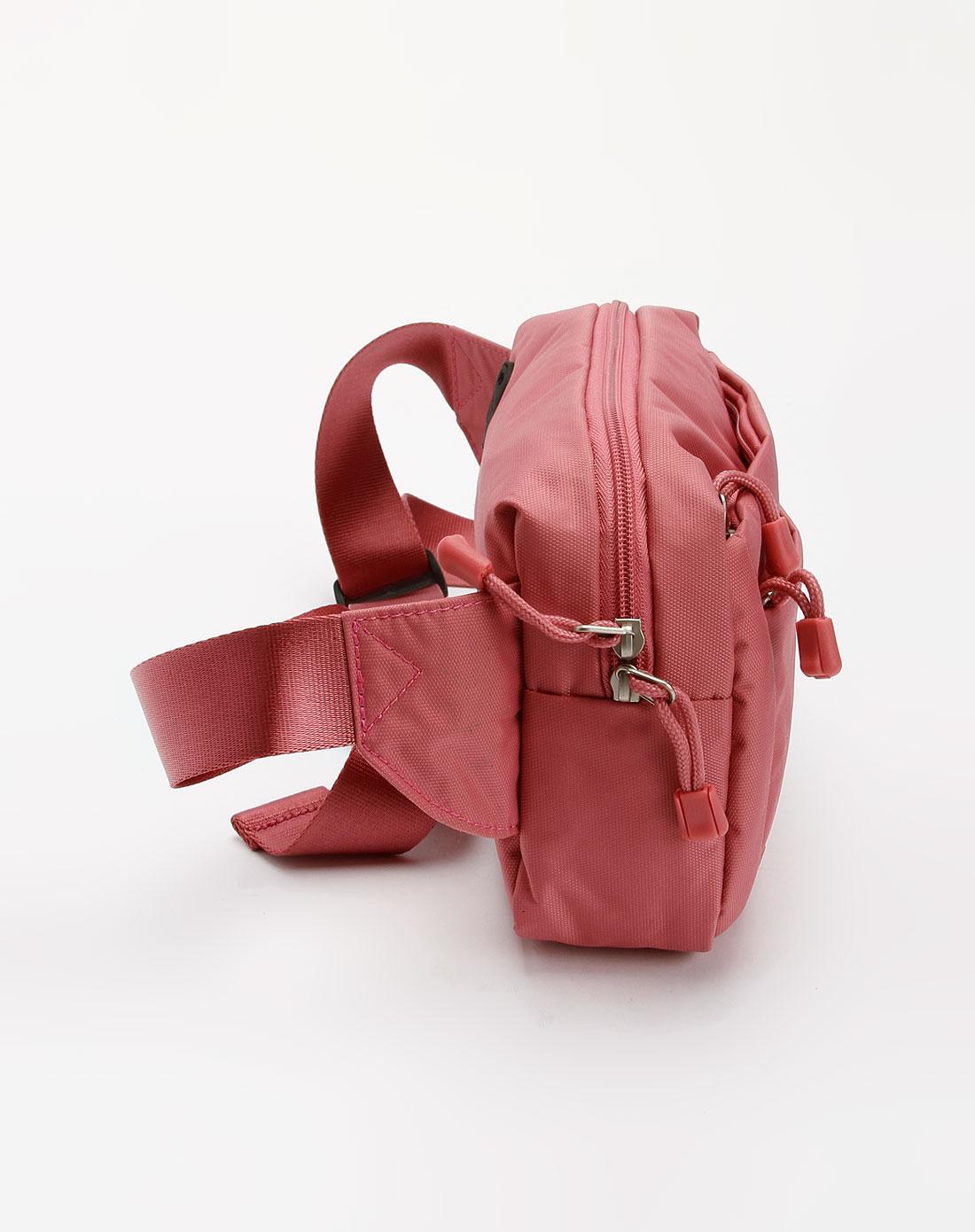 女款粉红色时尚腰包_elle
