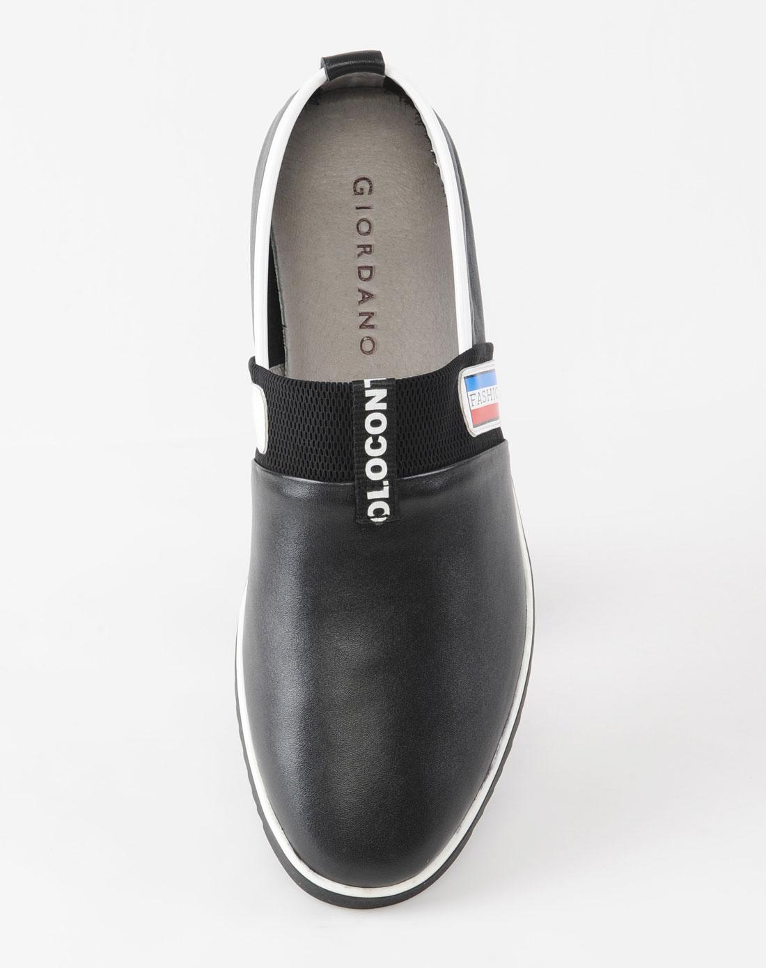 佐丹奴giordano男款黑色休闲鞋51139063