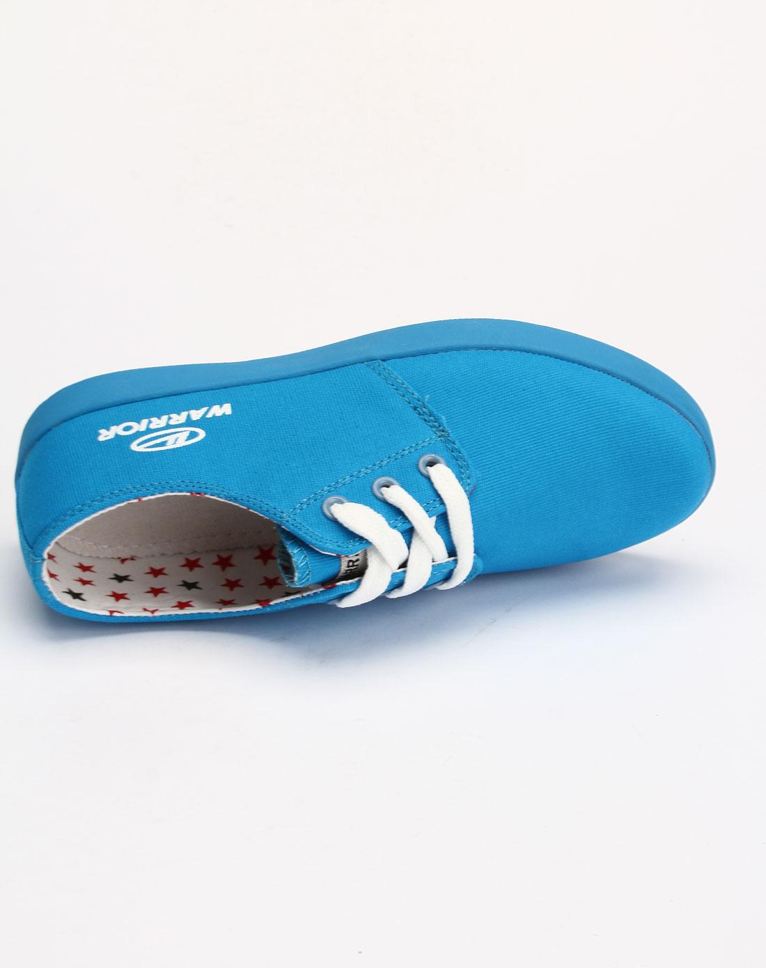 回力warrior男女鞋女款蓝色时尚系带休闲鞋2265-18