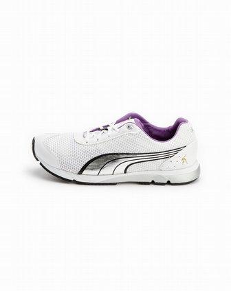 彪马puma白/银色网面运动鞋18534101