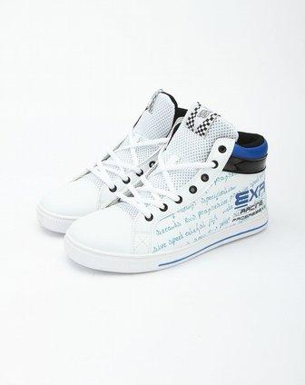exr白色字母印花中帮休闲鞋ei5cl1pow1wbu