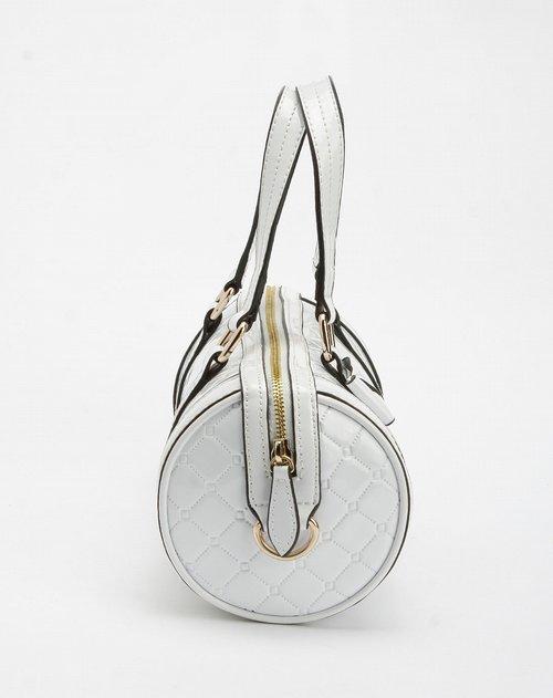 商品名称:女款白色俏丽真皮手提包