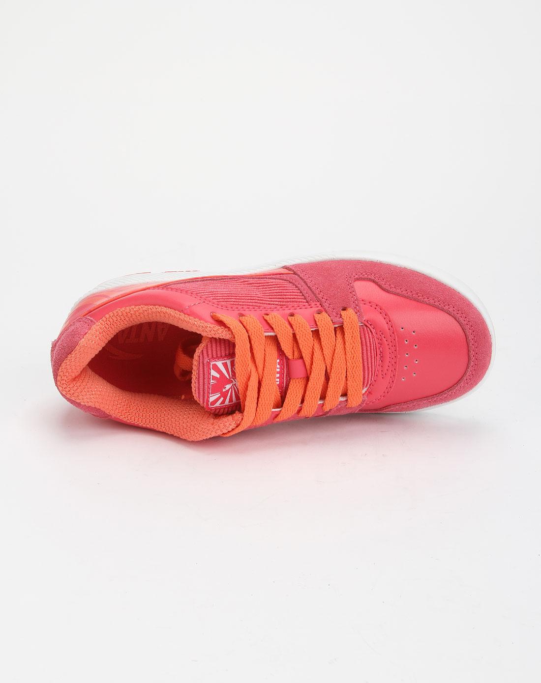 安踏anta女款桃红色休闲时尚绑带板鞋62141059-3