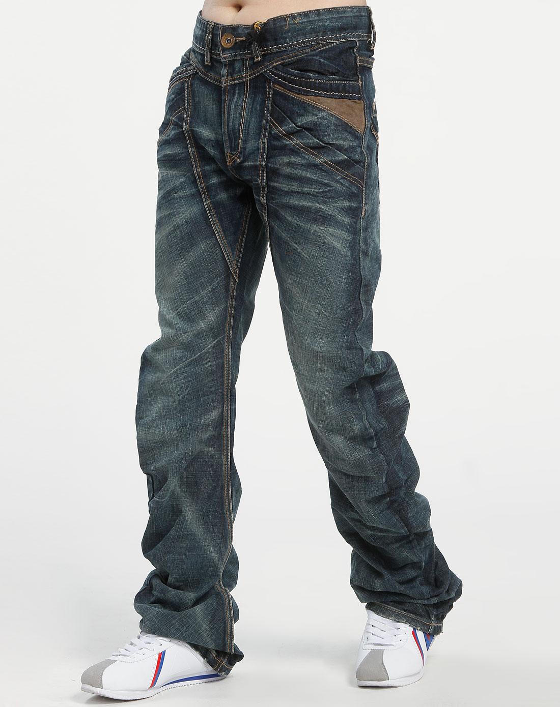 品牌tough 深蓝色牛仔长裤