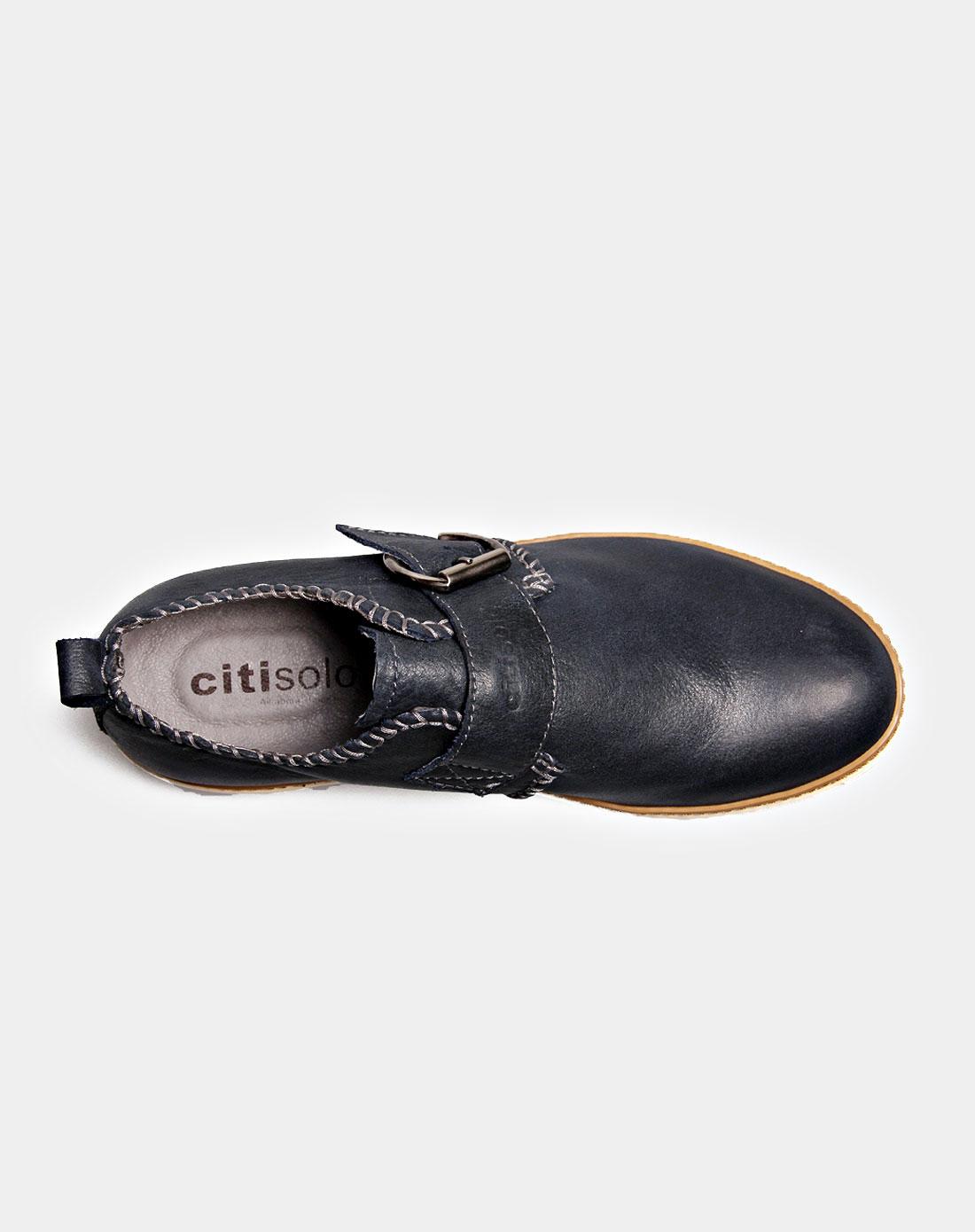 西颂citisolo深蓝复古商务休闲搭扣大头男鞋csmx930