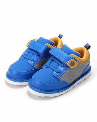 abckids男女童鞋男小童宝蓝土黄休闲运动鞋y2522301d