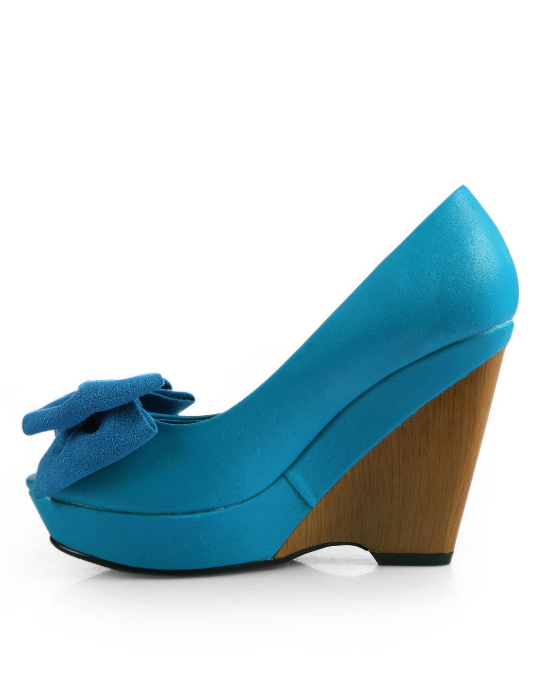 结坡跟鱼嘴女式单鞋