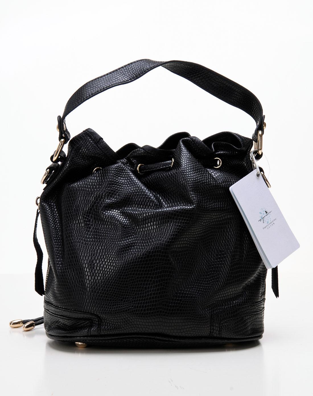 蹀愫tigrisso女款黑色包包tk22b38-01n*082