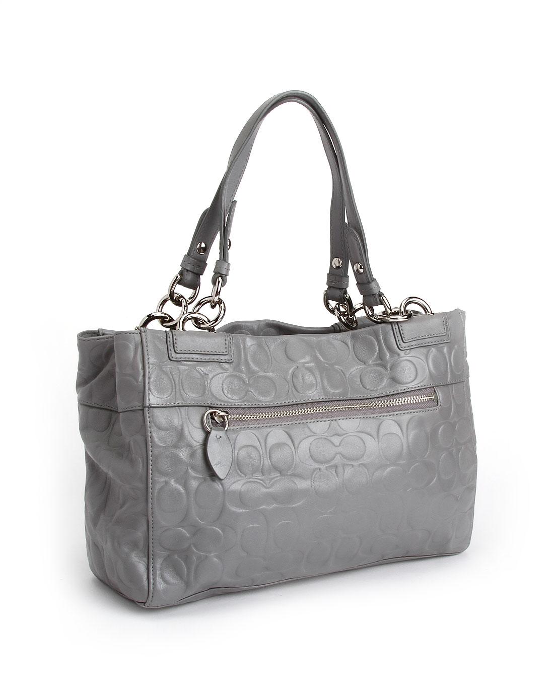 coach女款灰色时尚手提包f16577sgysv