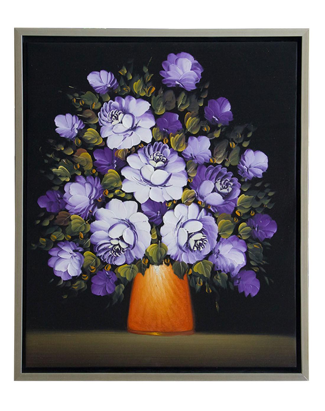 《紫玫瑰》纯手绘油画限量版