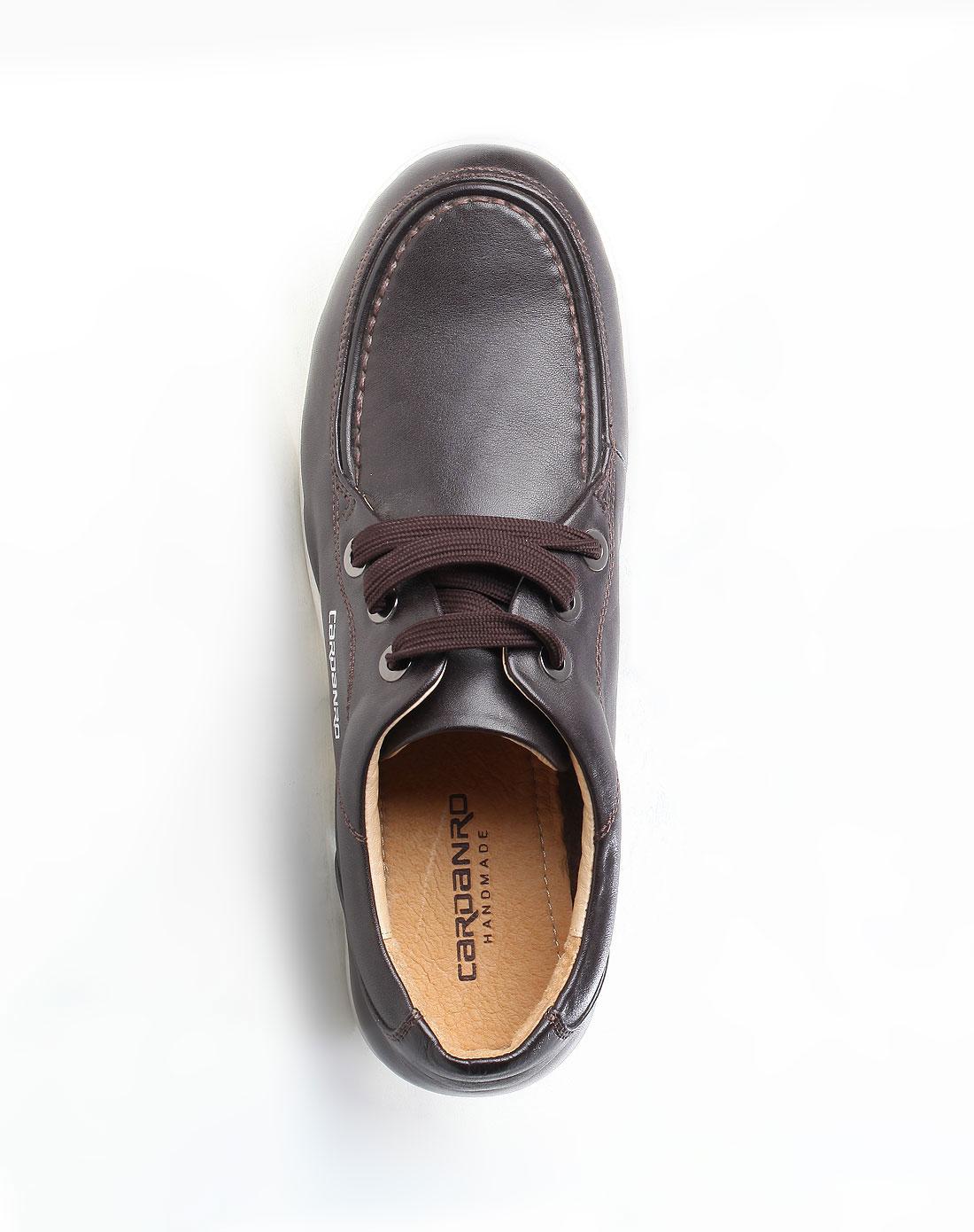 深棕色时尚系带皮鞋_卡丹路cardanro官网特价2-4