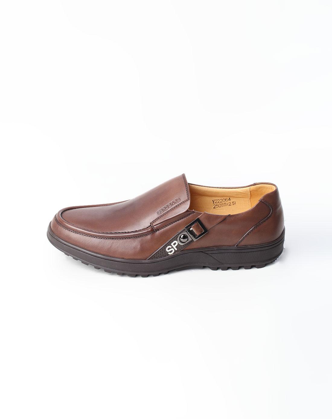 棕色时尚运动皮鞋_卡丹路cardanro官网特价2-4