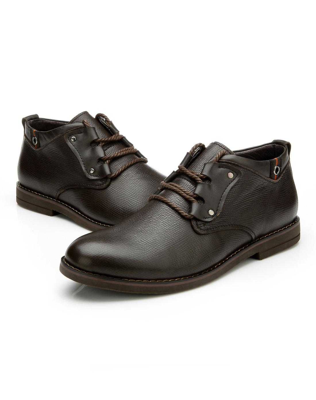 欧伦堡olunpo鞋子专场棕色商务正装牛皮鞋qdt1204-02