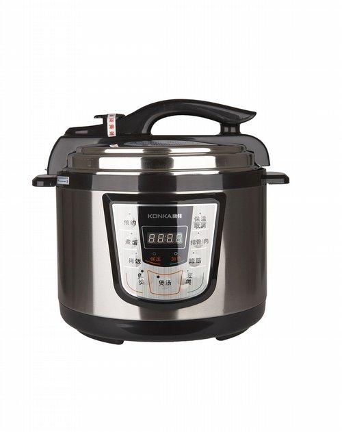 康佳生活电器双胆电压力锅(银黑5l)