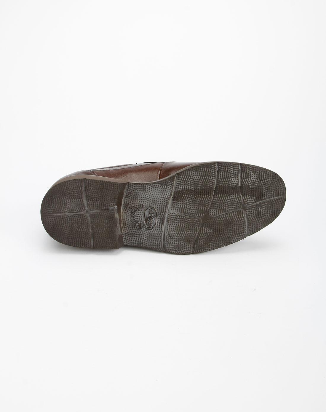 ho男款棕色时尚休闲皮鞋