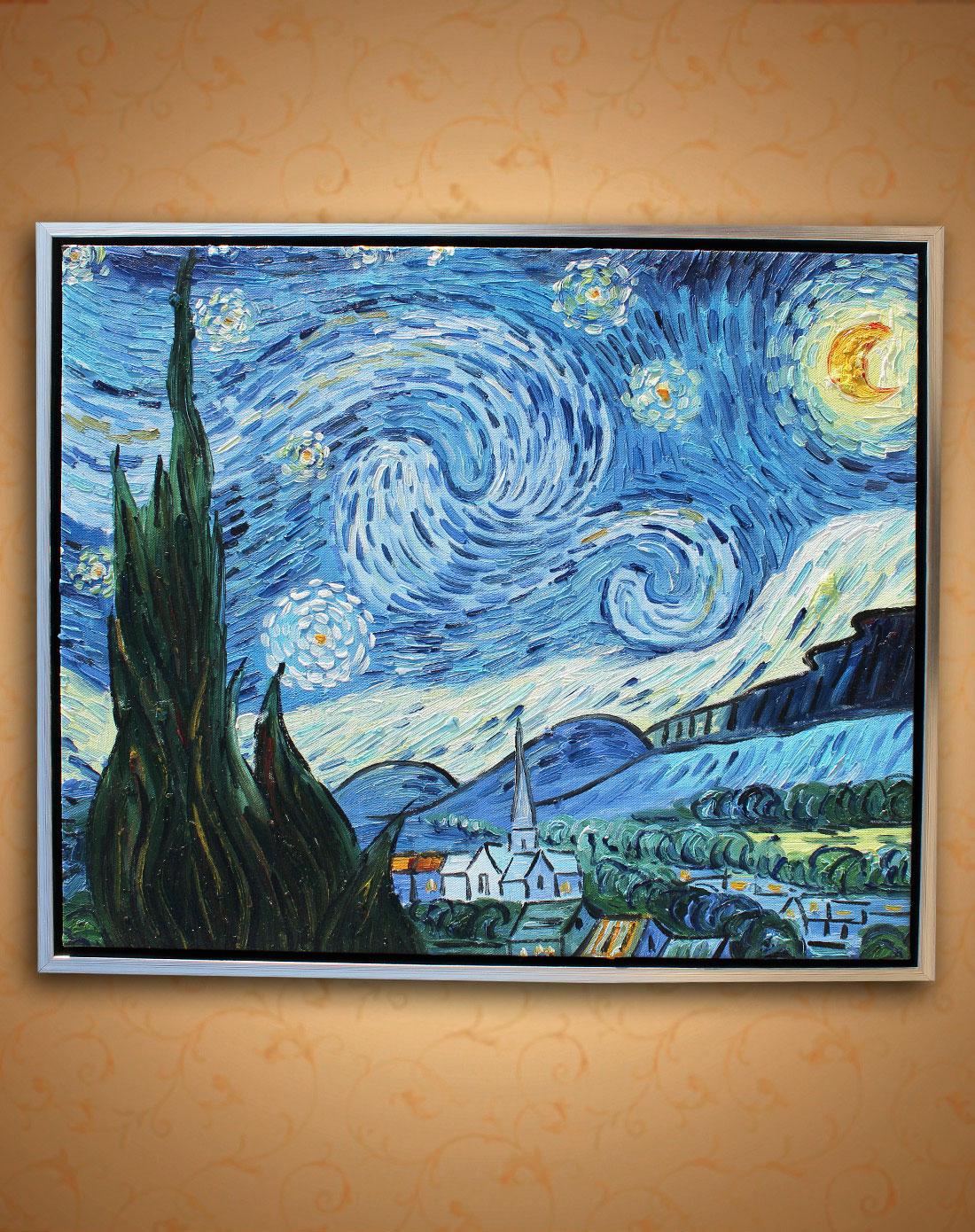 梵高·星空-纯手绘油画(单幅)