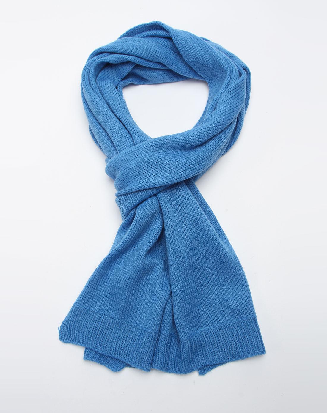 森马男装专场-蓝色休闲围巾图片