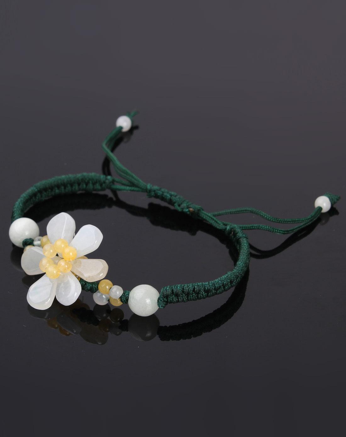 翡翠编织手链-百年好合