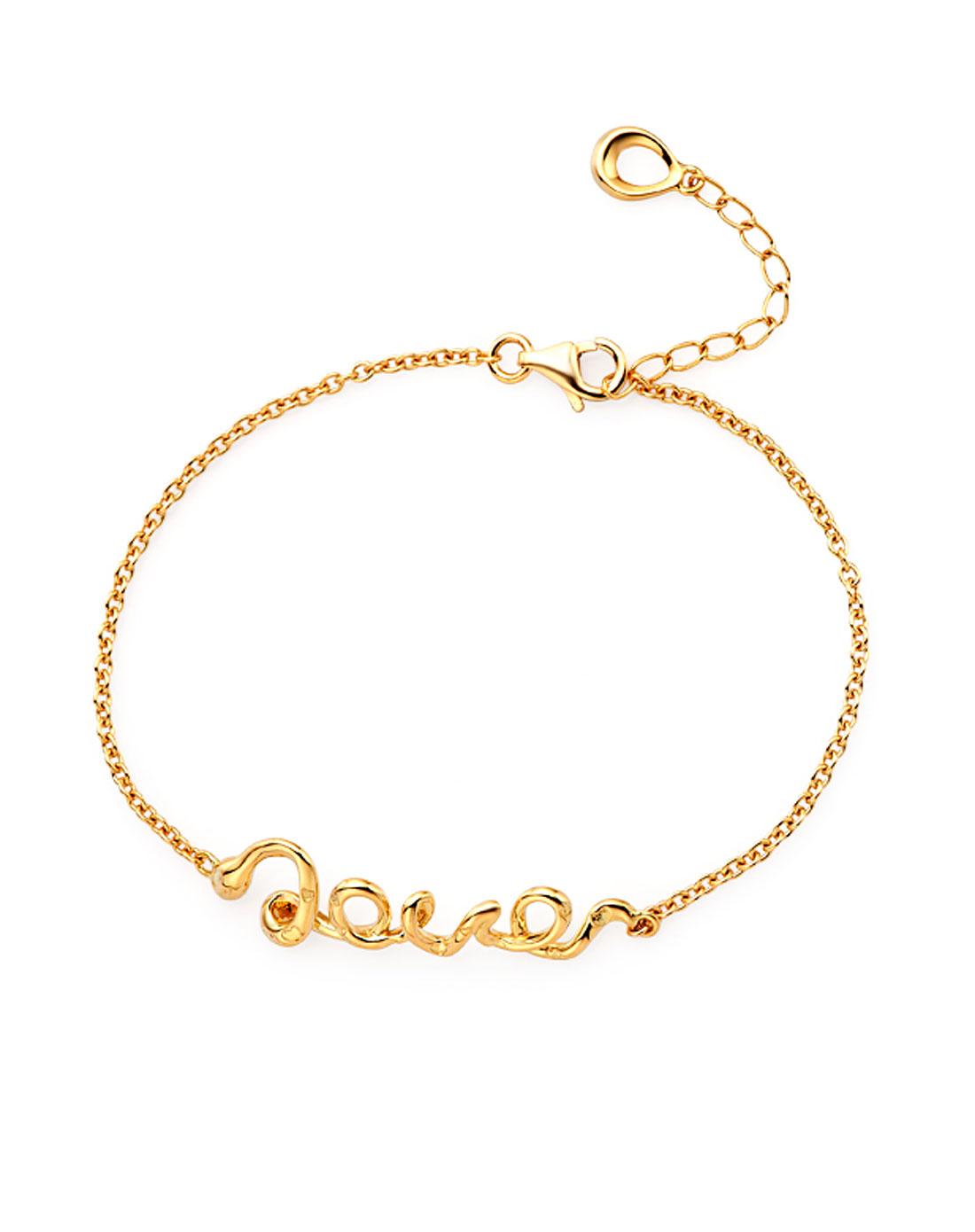 蛇形字母love手链
