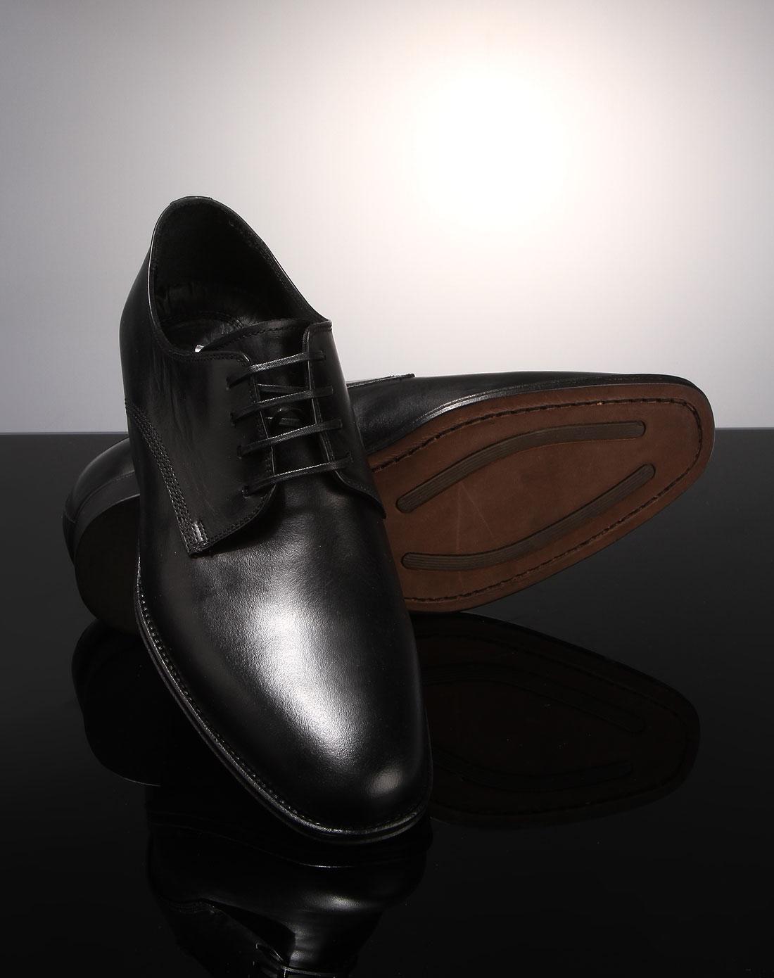 系带皮鞋黑色b2ash
