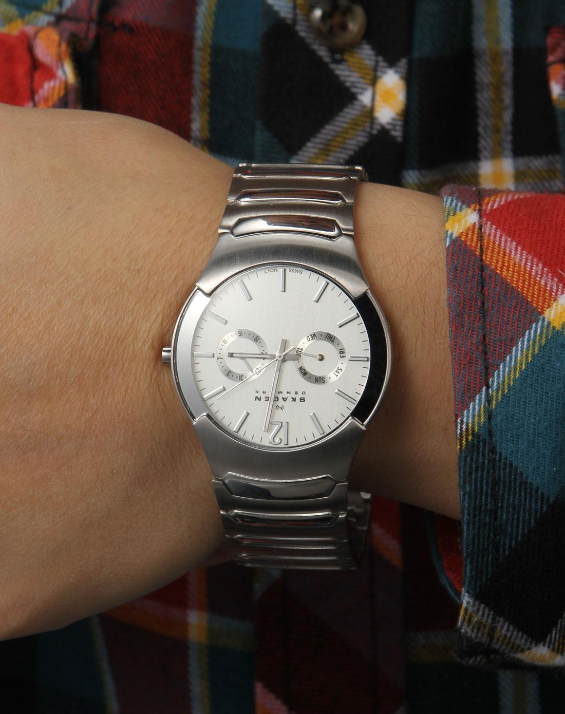 男款银色表带steel系列石英手表