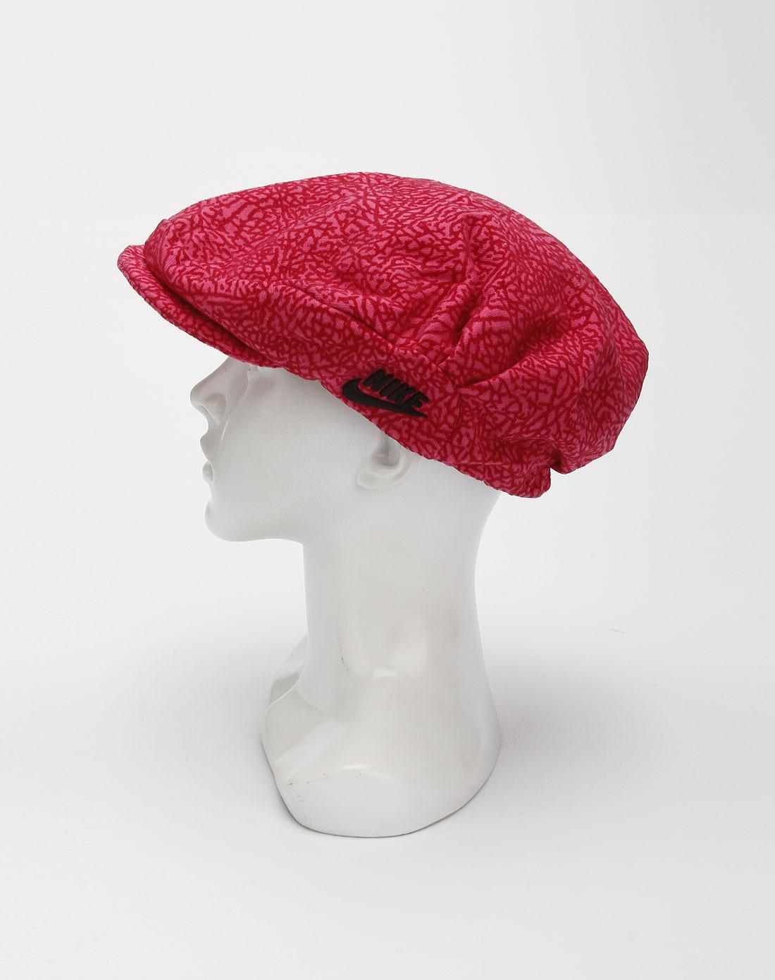 耐克nike男款玫红色休闲时尚帽子328618-687