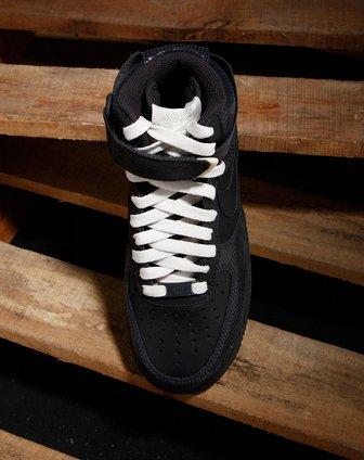 耐克nike女款煤黑/帆白色绑带时尚高邦运动鞋334031