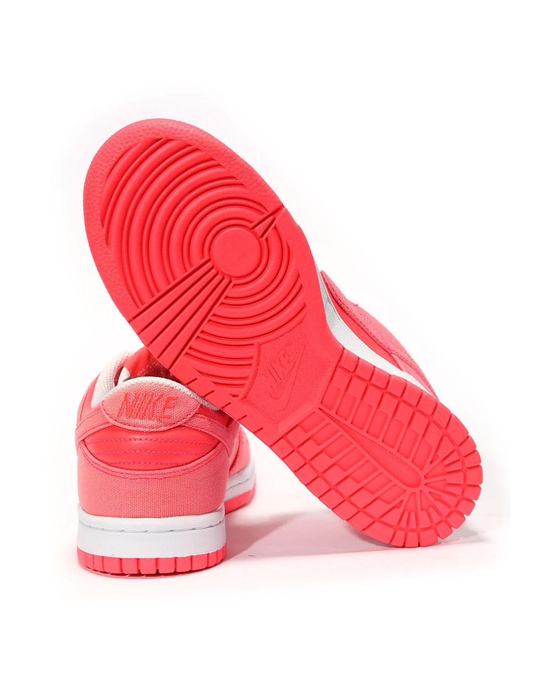 耐克nike女子玫红色复古鞋317813-605