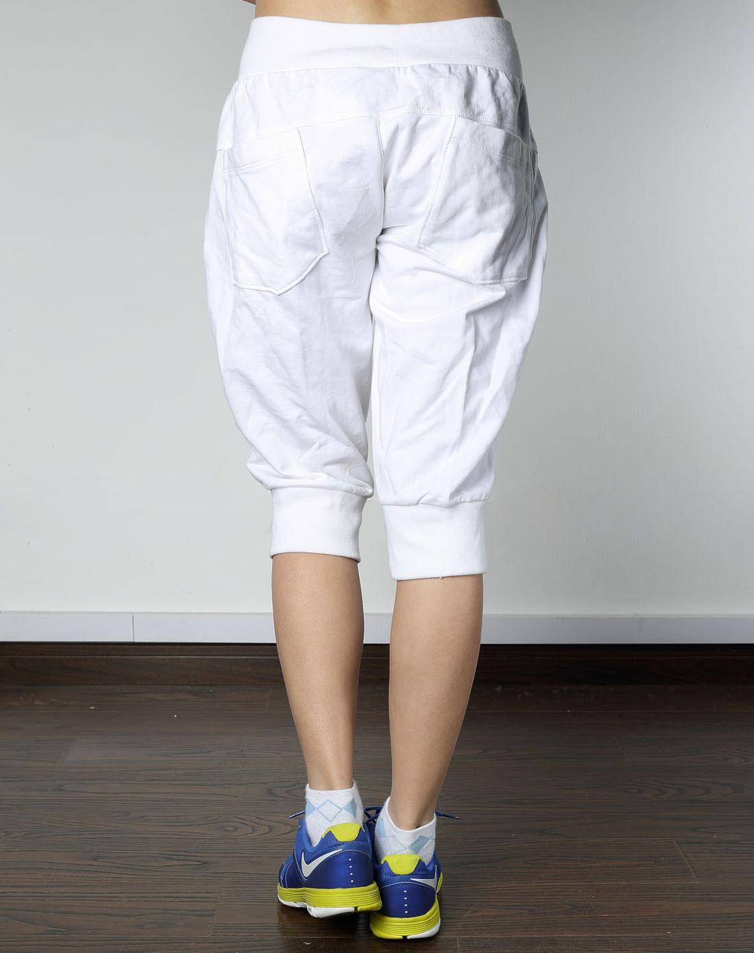 耐克nike女士专场 > 女子白色针织中长裤