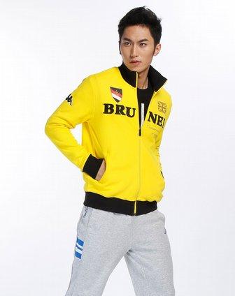 卡帕kappa男装-鲜黄/黑色时尚长袖外套