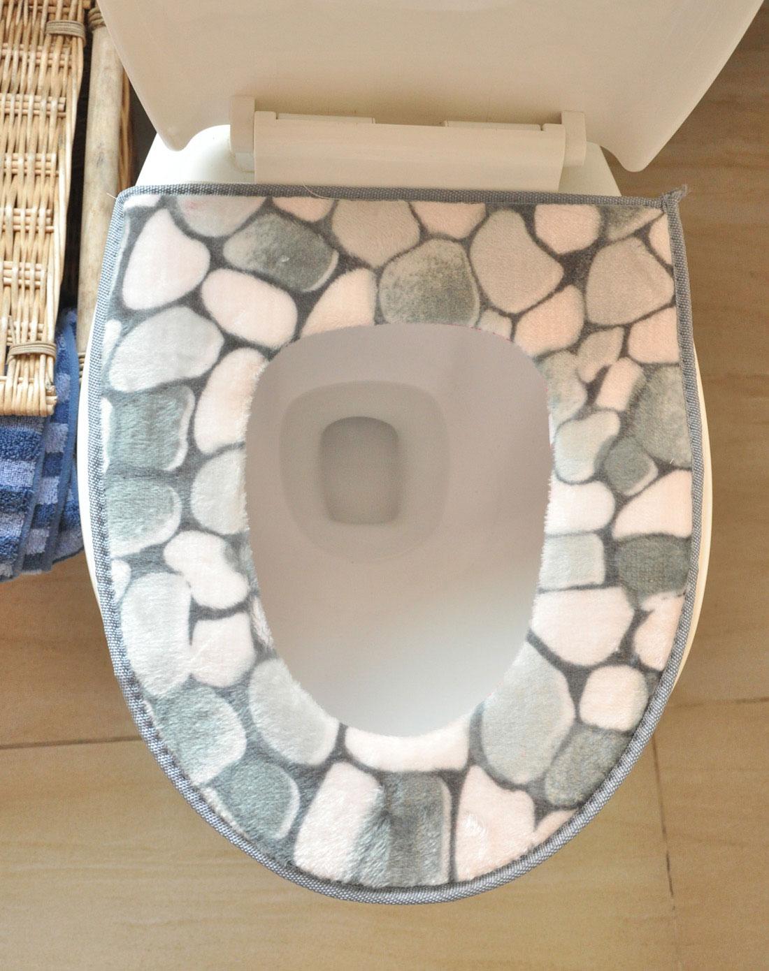 石头纹马桶垫(咖啡两片装); 家友·良品home&friends石头纹马桶垫(灰