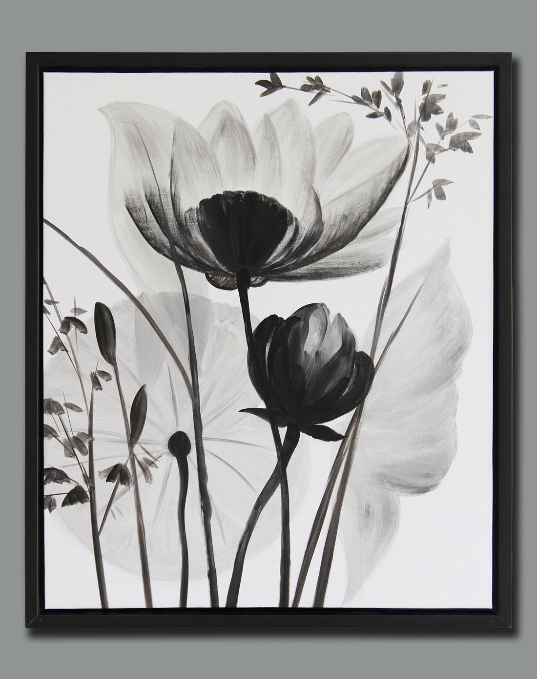 纯手绘油画-《迎春花》