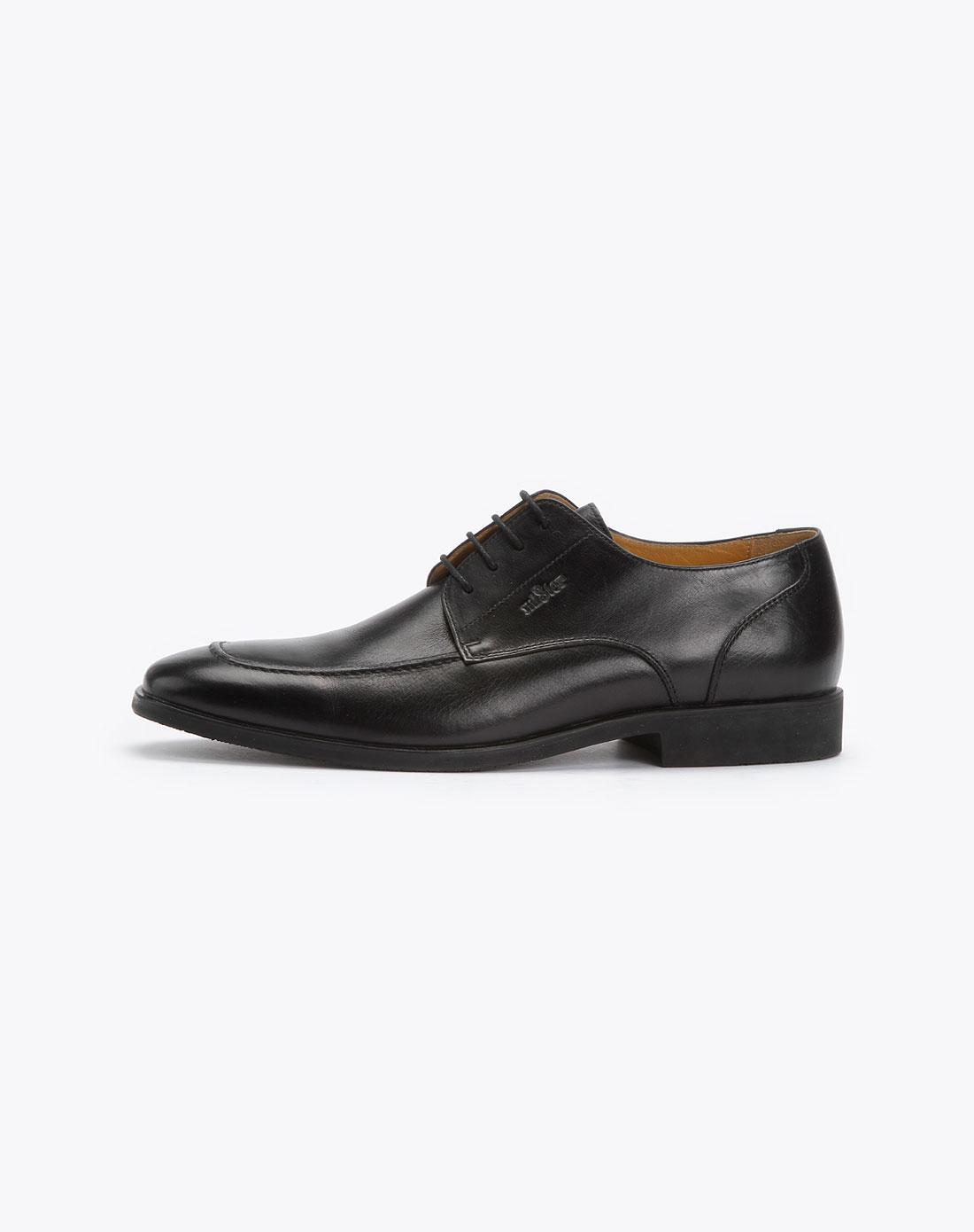 黑色系带正装皮鞋_名仕mister特价2.5-2