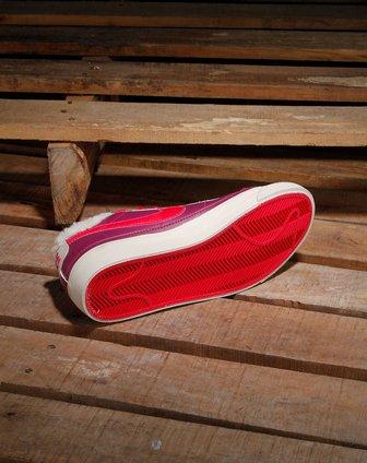 耐克nike女款紫/玫红色个性绑带休闲鞋371759-603