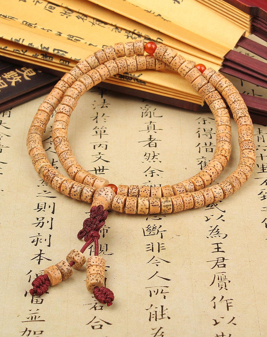 悦木之源天然藏式星月108颗筒形佛珠手链ym10q031