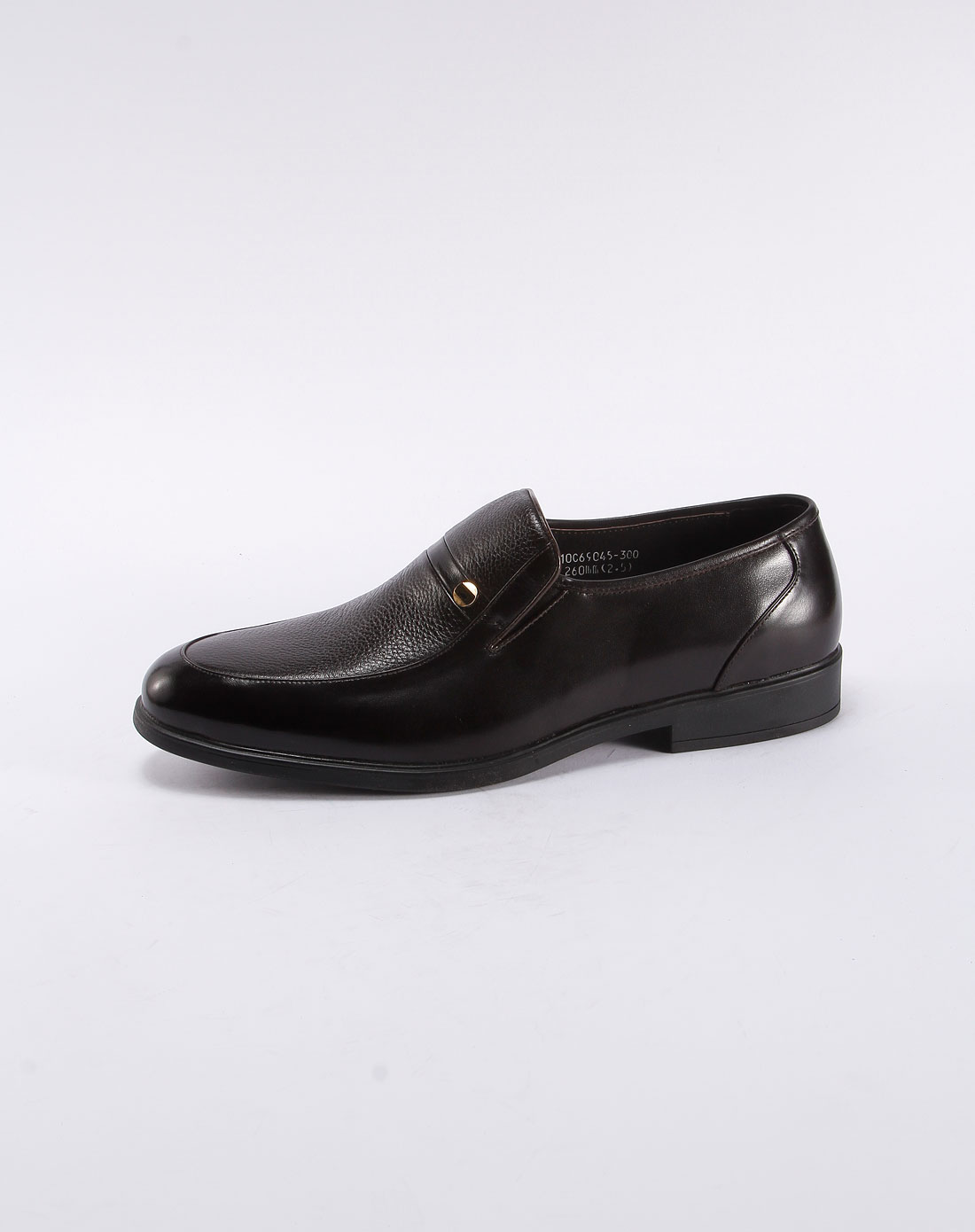 卡帝乐鳄鱼cartelo深咖啡色商务休闲皮鞋10c69045004